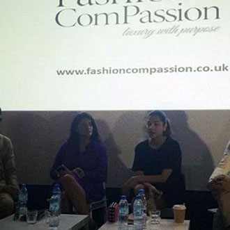 panel discussion on fashion and economy in dubai with Frances Corner head of London College of Fashion